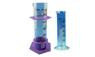 Measuring cylinder, glass